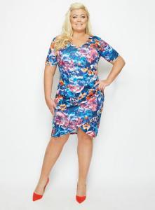 Blue Navy Tulip Dress, £65