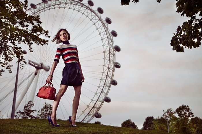 La Petite Anglaise Louis Vuitton photo shoot at the Coca-Cola London Eye